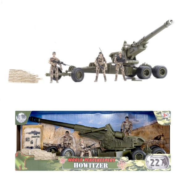 World Peacekeepers Army Military Howitzer artillary gun with figures